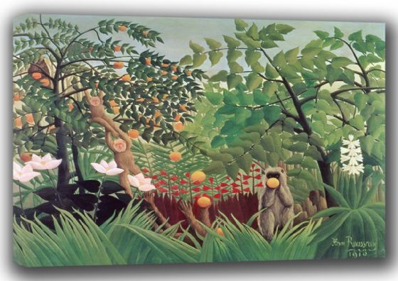 Rousseau, Henri: Exotic Landscape, 1910. Fine Art Canvas. Sizes: A4/A3/A2/A1 (003524)